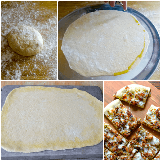 Basic Pizza Dough Round thin crust and square sheet pan