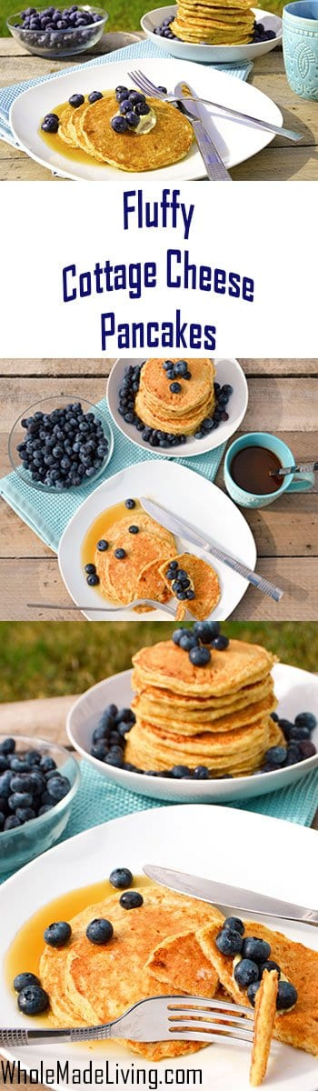 Fluffy Cottage Cheese Pancakes Pinterest Collage