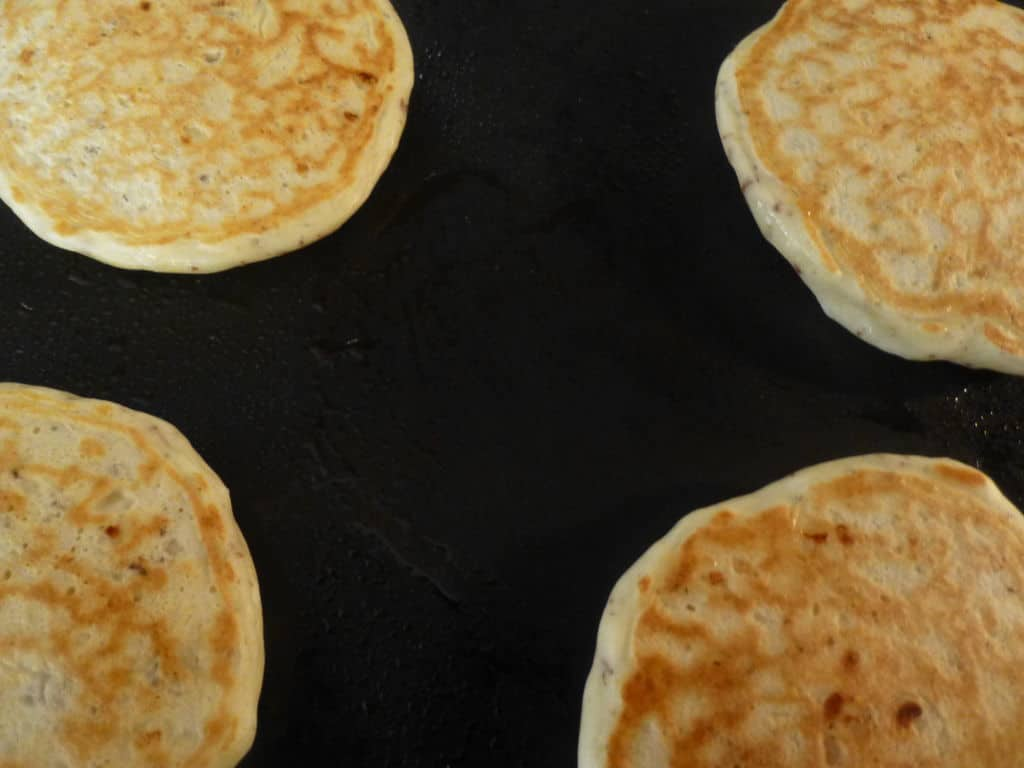Golden color on these cottage cheese pancakes.