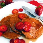Steel Cut Oat Pancakes with Strawberries