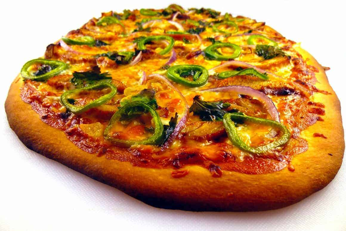 BBQ Chicken Jalapeno Pizza close up