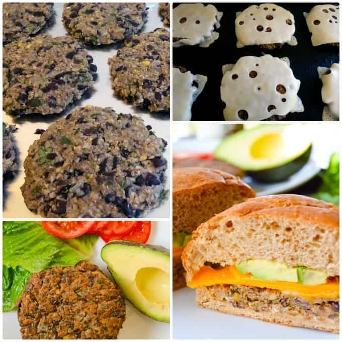 Black Bean & Chickpea Burgers step by step collage