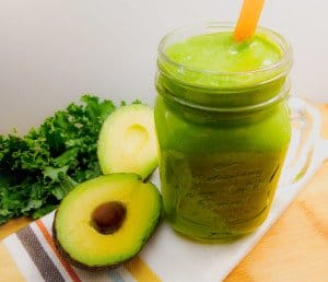 Mango Avocado Green Smoothie from Whole Made Living