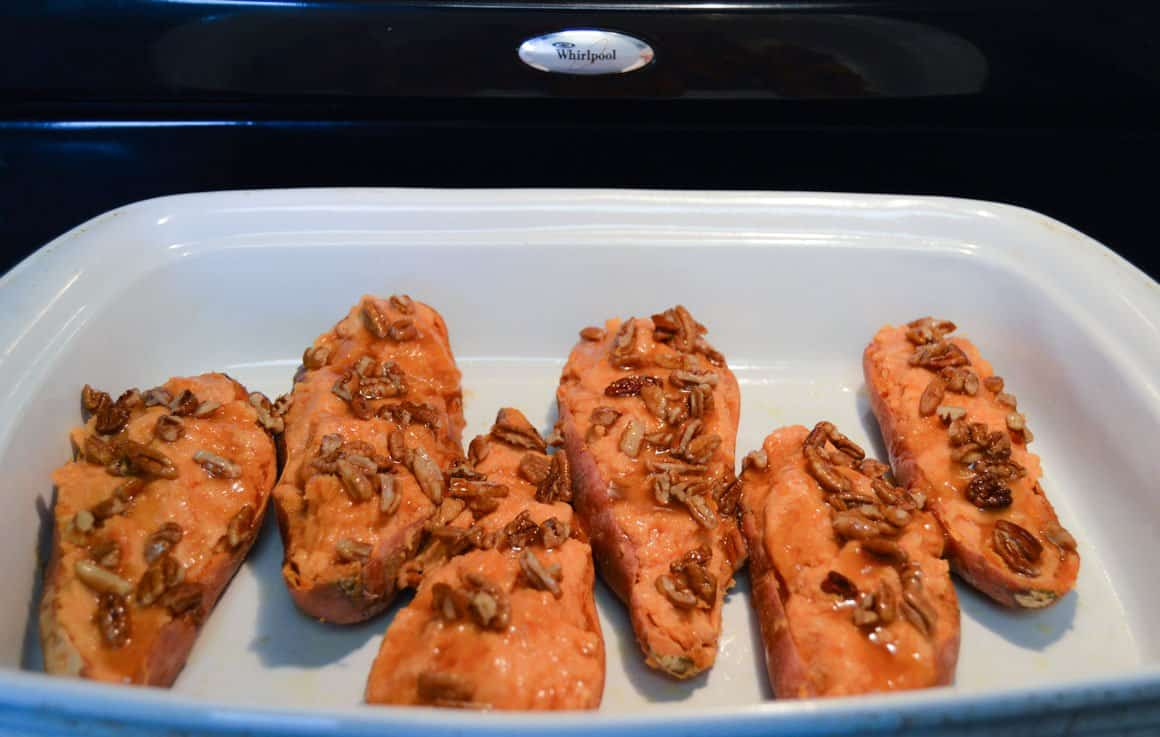 Twice Baked Sweet Potatoes pre-bake