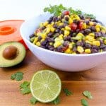 Cilantro Lime Black Bean Corn Avocado Salad