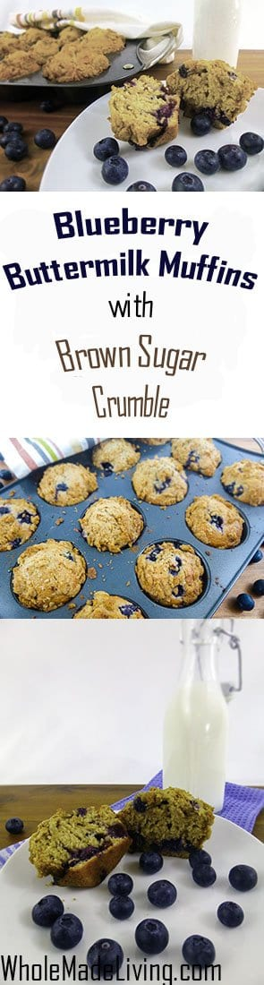 Buttermilk Blueberry Muffins with Brown Sugar Crumble~