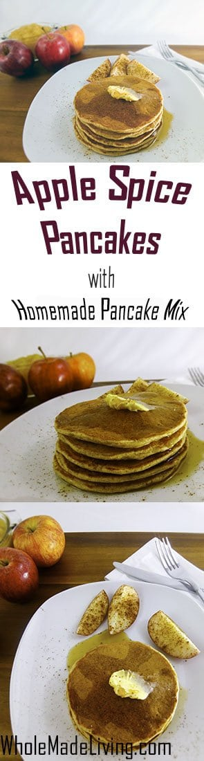 Apple Spice Pancakes with Homemade Pancake Mix Pinterest Collage