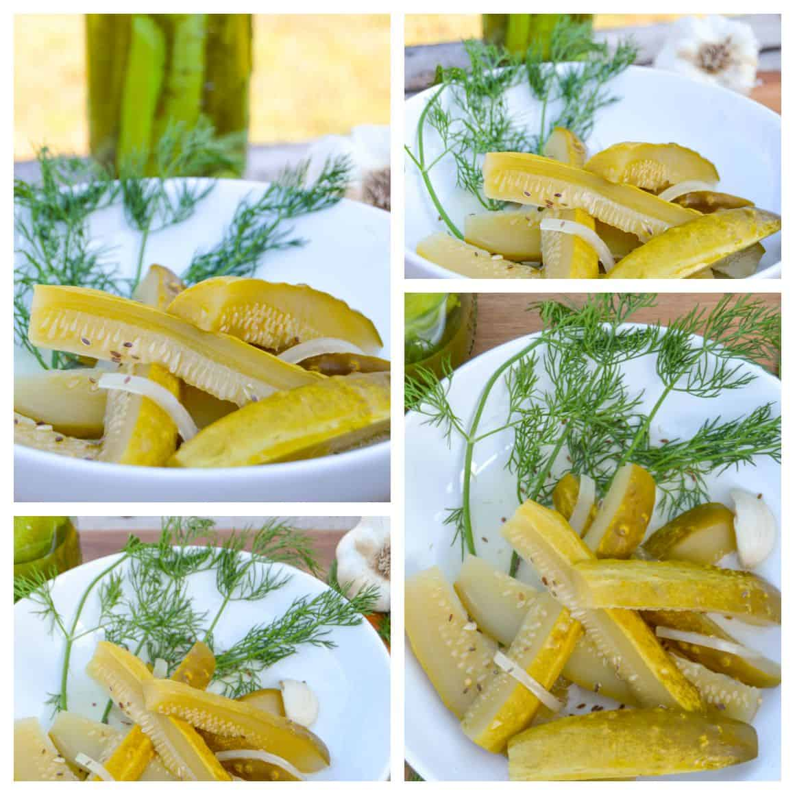Homemade Deli Style Dill Pickles Collage