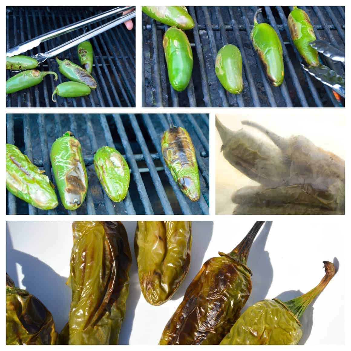 How to Fire Roast Jalepenos Collage