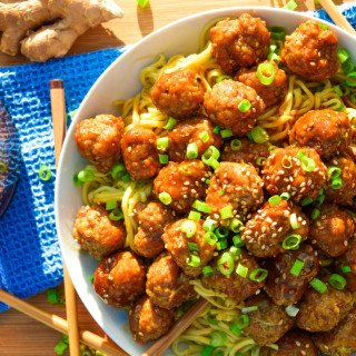 Ginger Teriyaki Meatballs