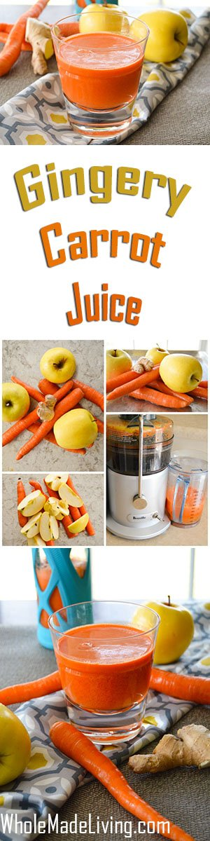 Ginger Carrot Juice Pinterest Collage