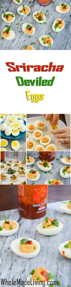 Sriracha Deviled Eggs Pinterest Collage