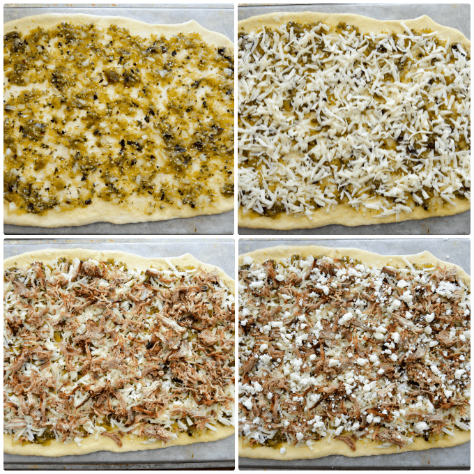 Carnitas Pizza Pre-Bake collage