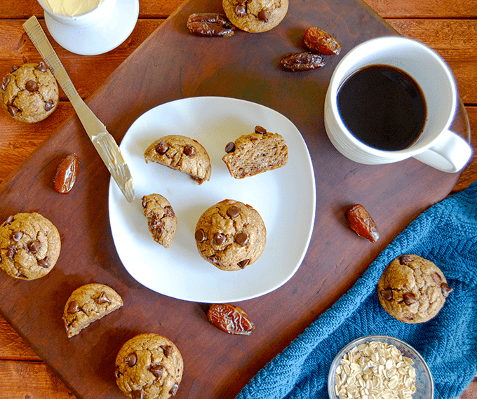 Flourless Banana Oat Breakfast Muffins